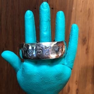 Vintage Sterling Silver Cuff Bracelet Navajo